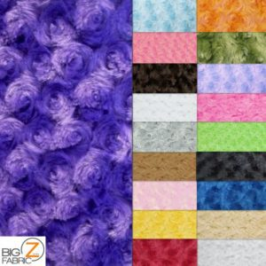 Rosette Floral Soft Minky Fabric