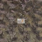 Rosette Floral Soft Minky Fabric Brown