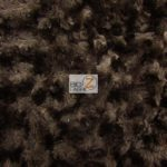 Rosette Floral Soft Minky Fabric Chocolate