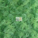 Rosette Floral Soft Minky Fabric Green