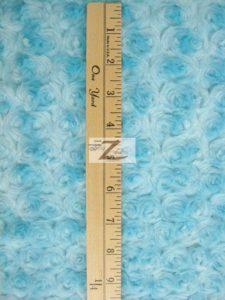 Rosette Floral Soft Minky Fabric Measurement