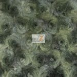 Rosette Floral Soft Minky Fabric Olive