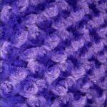 Rosette Floral Soft Minky Fabric Purple