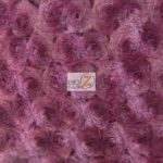 Rosette Floral Soft Minky Fabric Wine