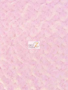 Rosette Minky Fabric Baby Pink