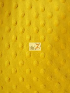 Dimple Dot Minky Fabric Canary Yellow