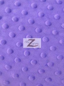 Dimple Dot Minky Fabric Purple