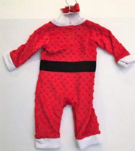 Dimple Dot Minky Santa Suit