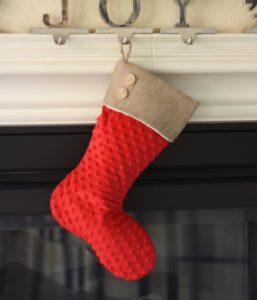 Red Minky Christmas Stocking
