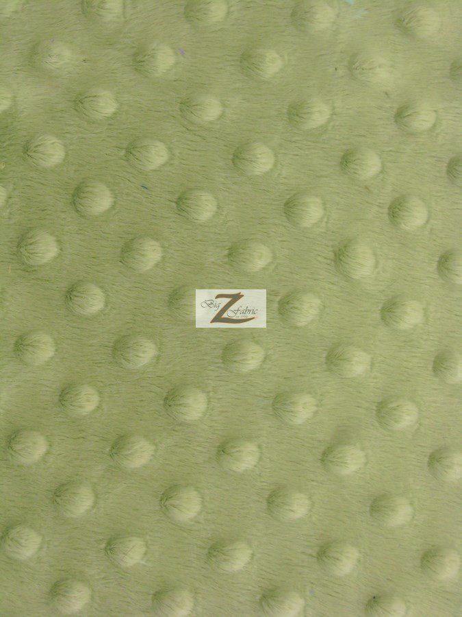 Asparagus Minky Dimple Dot Baby Soft Fabric
