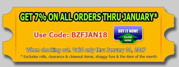 Big Z Fabric's New Year Minky Discount!