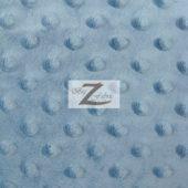 Dimple Dot Baby Soft Minky Fabric Denim Blue