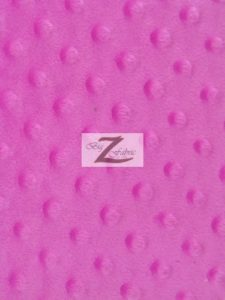 Dimple Dot Baby Soft Minky Fabric Fuchsia