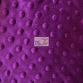 Dimple Dot Baby Soft Minky Fabric Magenta
