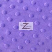 Dimple Dot Baby Soft Minky Fabric Purple