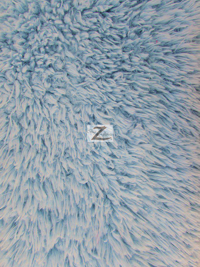 Baby Blue Mongolian Shaggy Minky Fabric