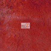 Shaggy Minky Baby Soft Fabric Red
