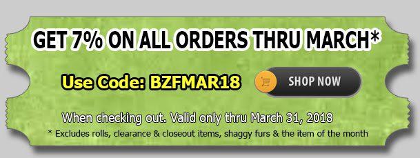 Big Z Fabric March Madness Minky Sale!!!
