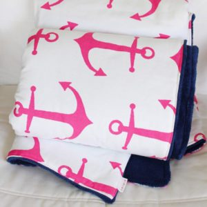 Anchor & Solid Minky Blanket