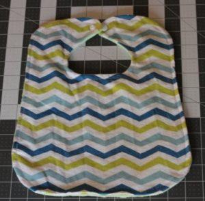 Chevron Minky Fabric Baby Bib