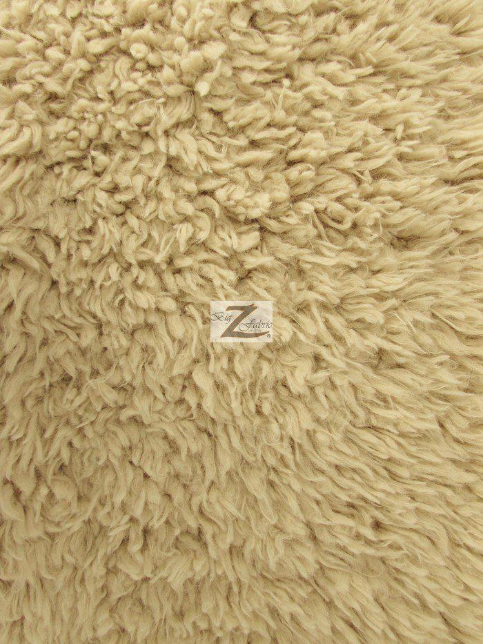 Camel Mongolian Shaggy Minky Fabric